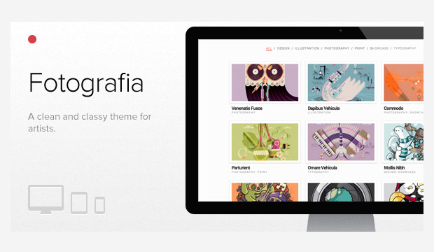 WordPress Responsive Theme for Visual Artists