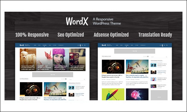WordX - News Websites WordPress Themes