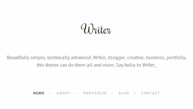 Writer - Responsive Writer WordPress Theme