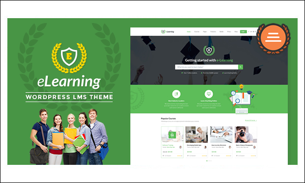 eLearning WP - WordPress Responsive Theme for Digital Schools