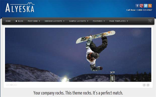Alyeska - Responsive HTML5 WordPress Theme