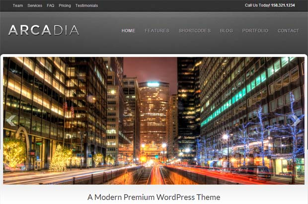 Arcadia - Typography WordPress Theme