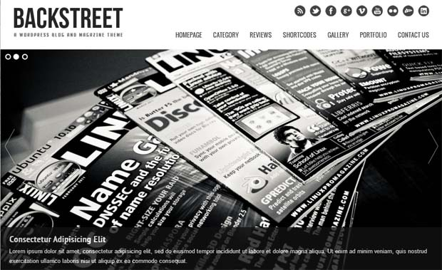Backstreet - Responsive NewsPaper WordPress Theme