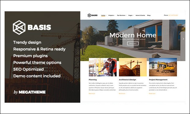 Basis - Home Builder WordPress Themes
