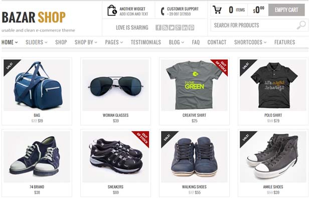 Bazar Shop - Responsive eCommerce WordPress Theme