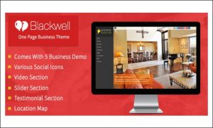 Blackwell - Single Page WordPress Themes
