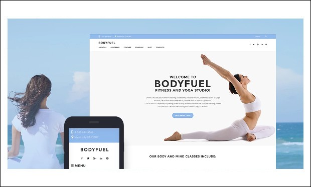 BodyFuel - Fitness and Gym WordPress Themes