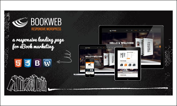 Bookish - Book Author WordPress Themes