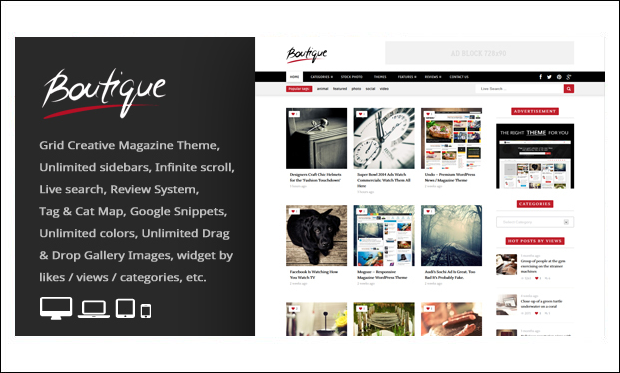 Boutique Grid - Boutique WordPress Themes