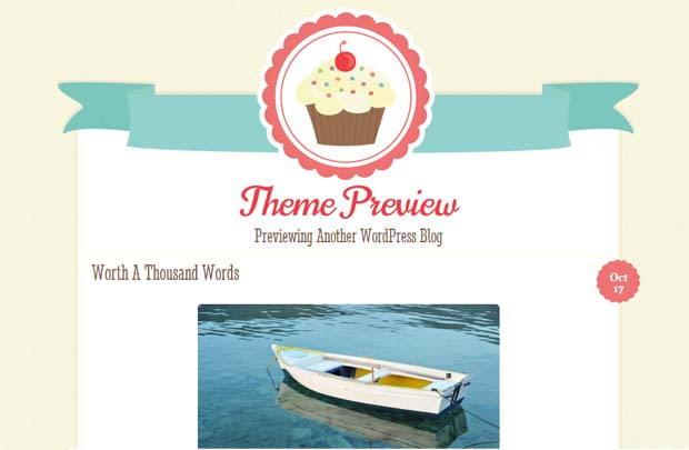 Buttercream - Free Responsive WordPress Theme