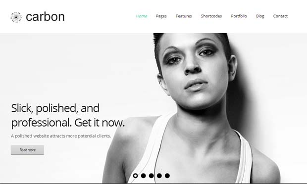 Carbon - Responsive SEO Friendly WordPress Theme