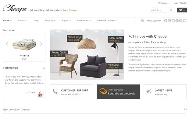 Cheope Shop - Responsive eCommerce WordPress Theme