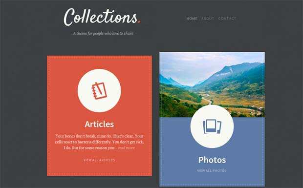 Collections - Responsive HTML5 WordPress Theme
