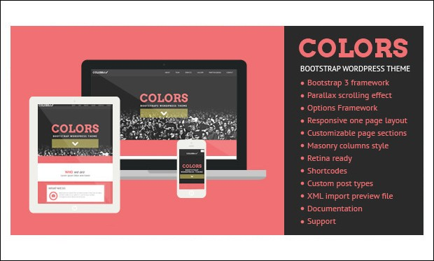 Colors - Bootstrap based WordPress Themes