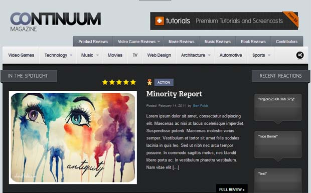 Continuum - Responsive HTML5 WordPress Theme