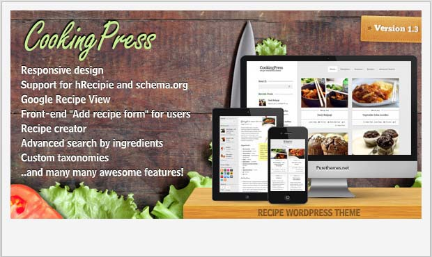Cooking Press - Food Recipe WordPress Theme