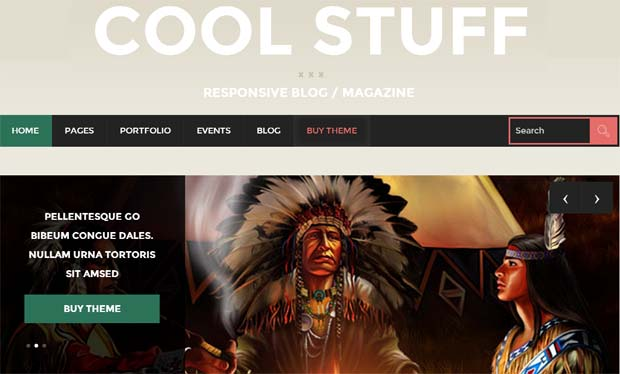 CoolStuff - Responsive Tumblr WordPress Theme