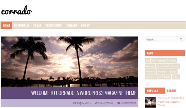 Corrado - Responsive SEO Friendly WordPress Theme