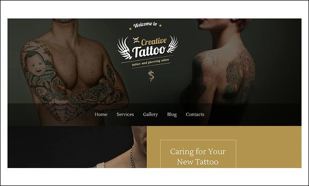 Creative Tattoo - HTML5 WordPress Themes