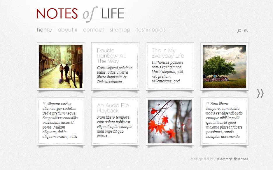 DailyNotes - Responsive HTML5 WordPress Theme