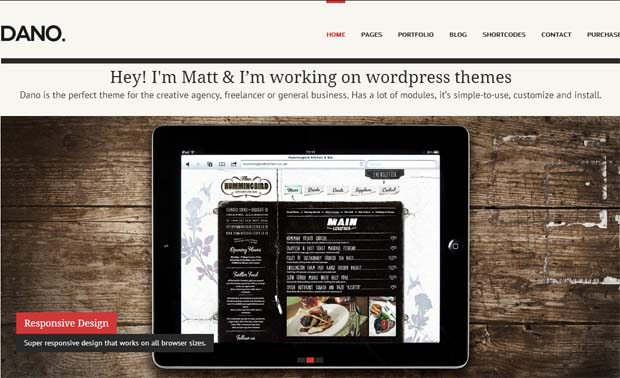 Dano - Responsive SEO Friendly WordPress Theme