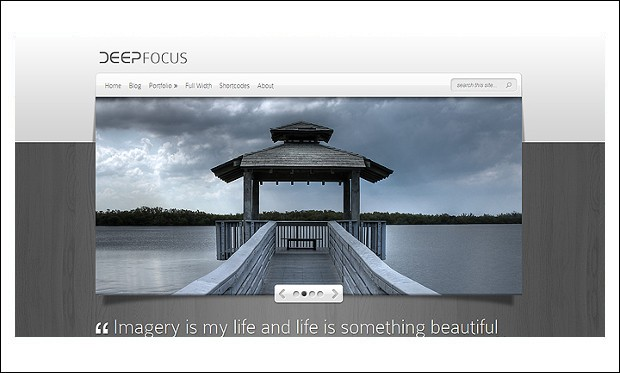 DeepFocus - WordPress Themes for Photographers
