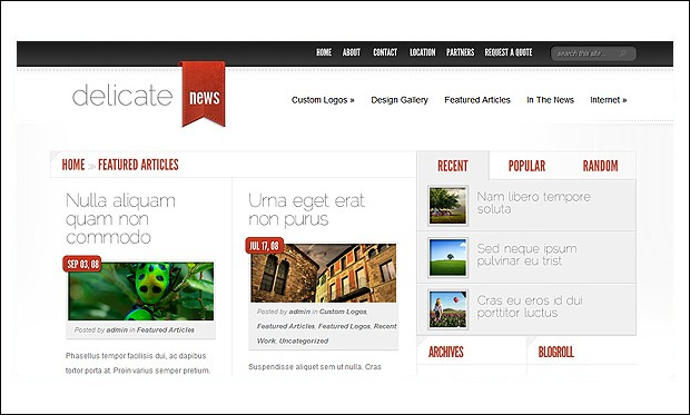 DelicateNews - Journalist WordPress Themes