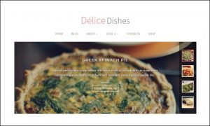 Delice Dishes - Cooking Recipe WordPress Themes