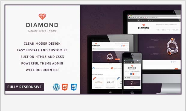 Diamond - Responsive Vintage WordPress Theme