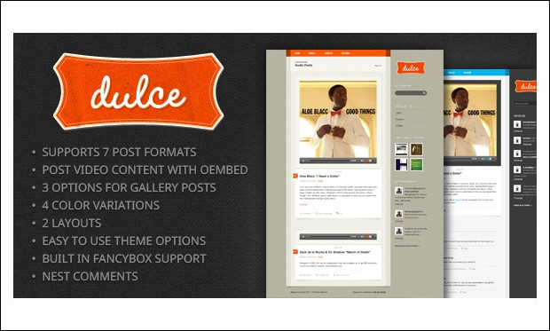 Dulce - Tumblr WordPress Themes