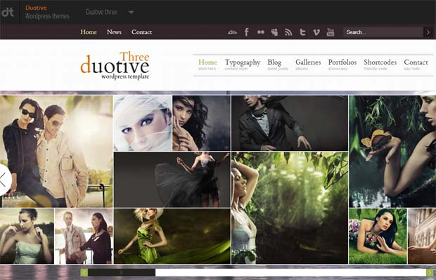 Duotive - Typography WordPress Theme