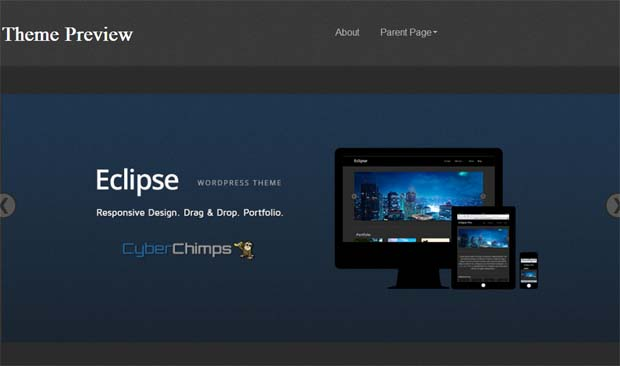 Eclipse - Free Responsive WordPress Theme