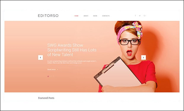 Editorso - Journalist WordPress Themes