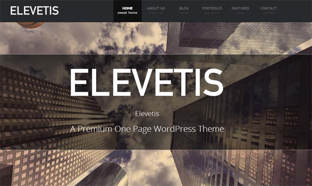Elevetis - Responsive One Page WordPress Theme
