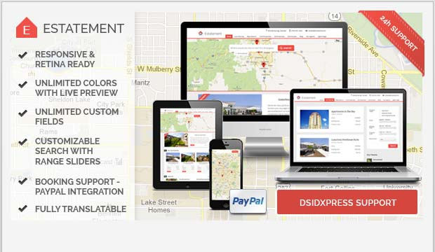 Estatement - Commercial Real Estate WordPress Theme