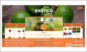 Exotico -Agriculture WordPress Themes