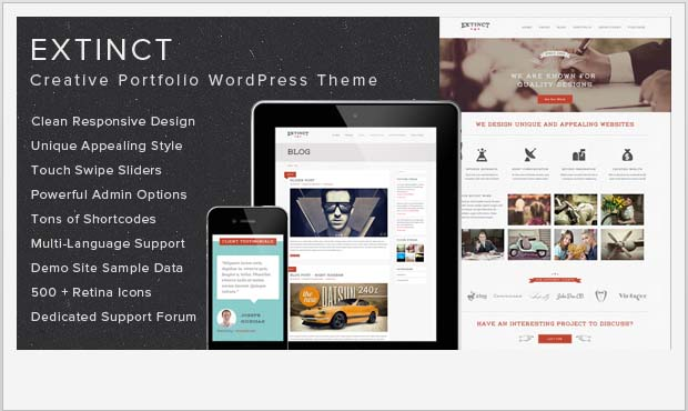 Extinct - Responsive Vintage WordPress Theme