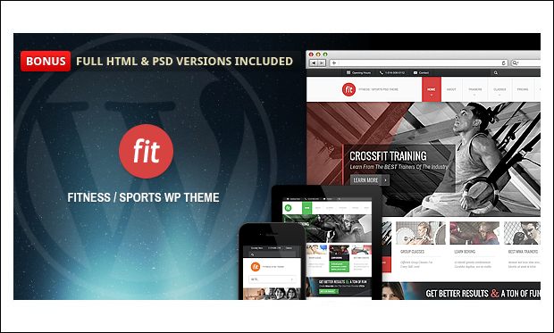 FIT - Fitness and Gym WordPress Themes
