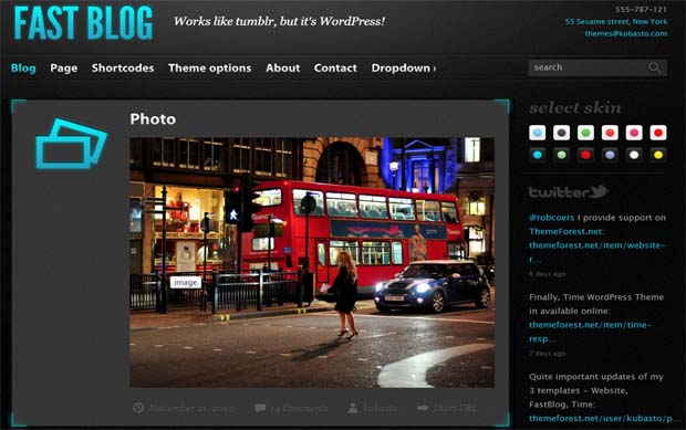 Fast Blog - Responsive Tumblr WordPress Theme