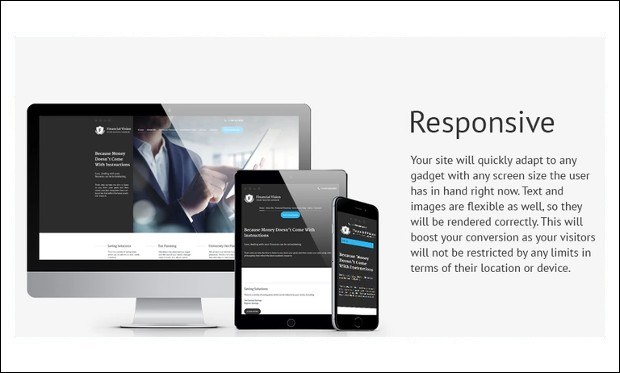 Financial Vision - Bootstrap based WordPress Themes