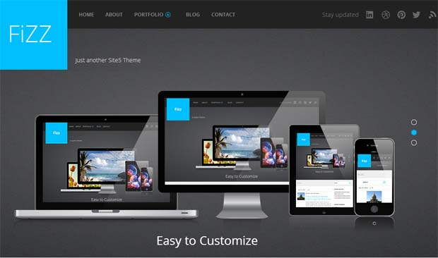 Fizz - Responsive HTML5 WordPress Theme