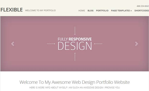 Flexible - Responsive HTML5 WordPress Theme