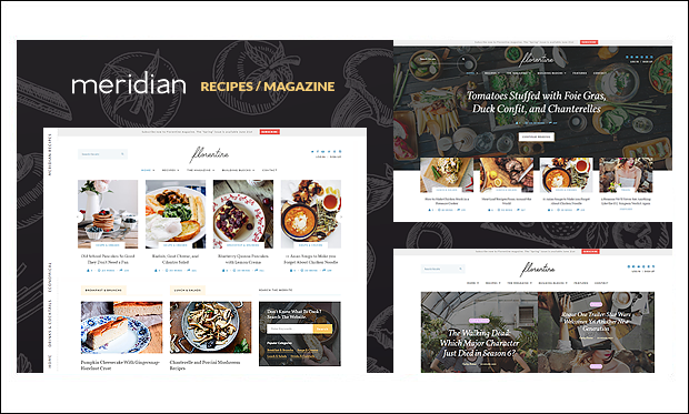 Florentine - Cooking Recipe WordPress Themes