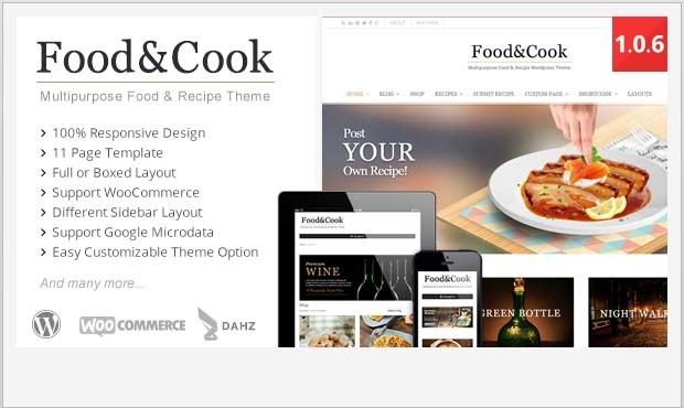 Food Cook - Food Recipe WordPress Theme