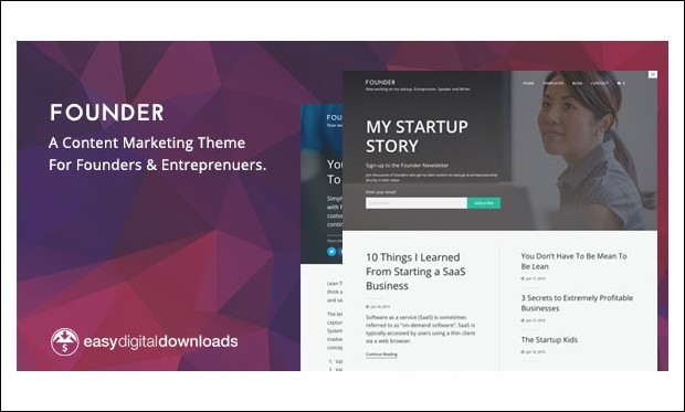 Founder - Marketing Agency WordPress Themes