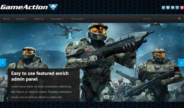 GameAction - Free Responsive WordPress Theme
