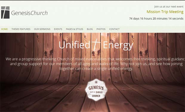 Genesis Church - Responsive SEO Friendly WordPress Theme