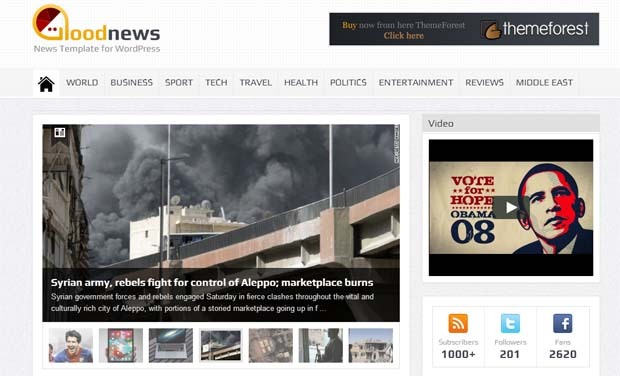 GoodNews - Responsive Newspaper WordPress Theme