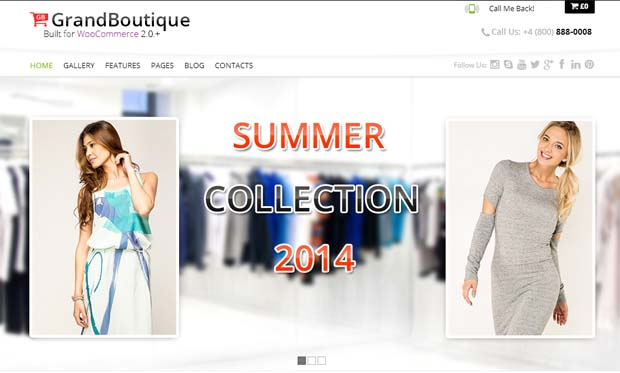 GrandBoutique - Responsive eCommerce WordPress Theme