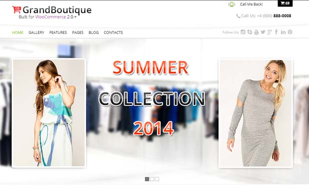 Grandboutique - Responsive SEO Friendly WordPress Theme